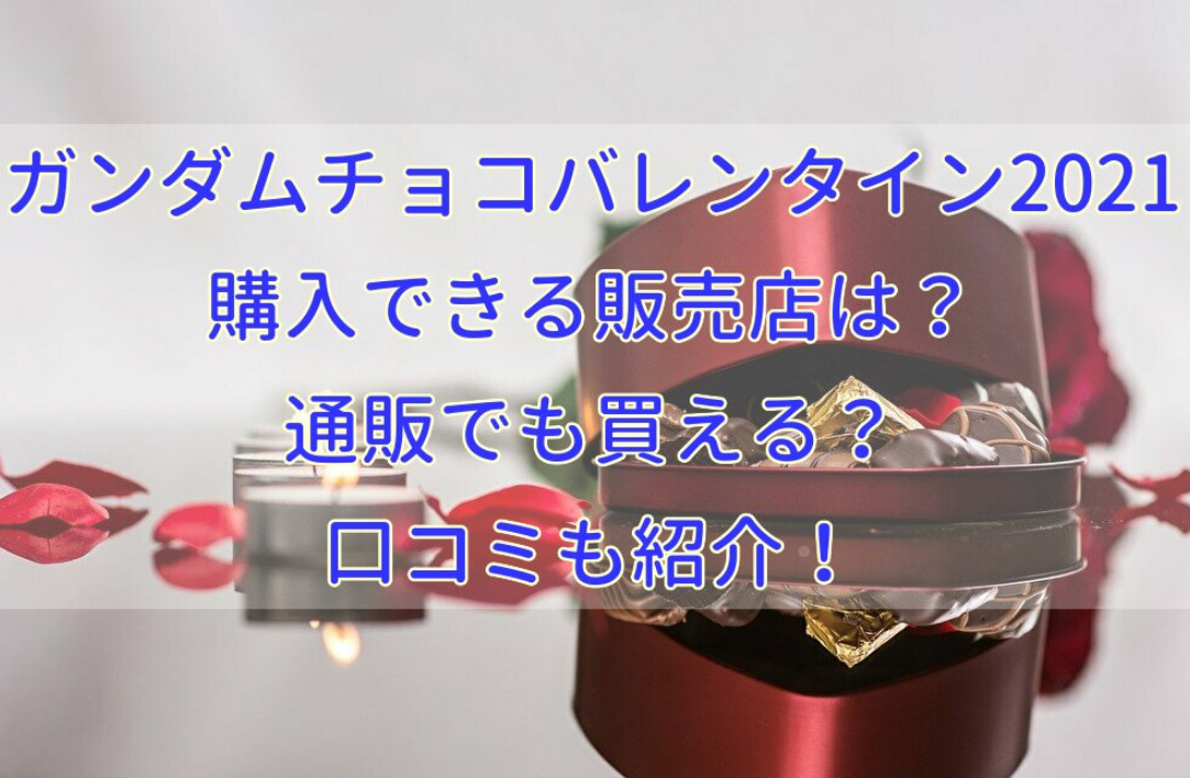 ガンダムチョコバレンタイン2021が購入できる販売店は?通販でも買える?口コミも紹介!